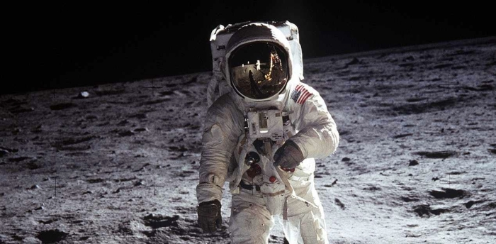 Apollo 11 Neil Armstrong standing on the moon