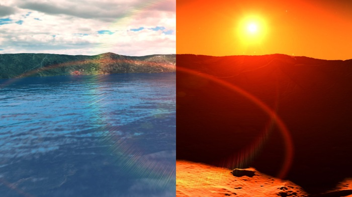 Water on Mars Past and Dry Present