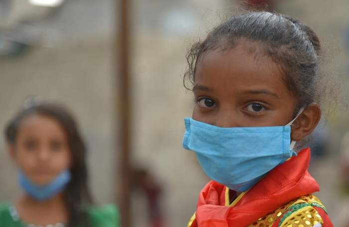 Hardest-Hit Countries - Yemeni Girl Wearing Mask