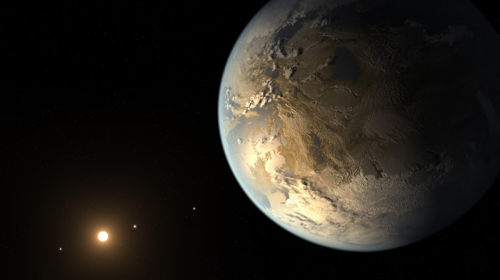 Earth-Like Planet and Distant Sun