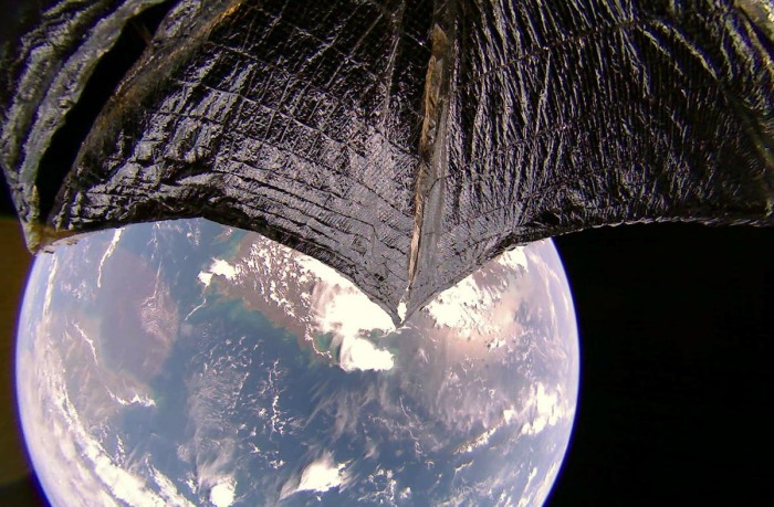 Solar Sailing - LightSail2 in orbit over Australia