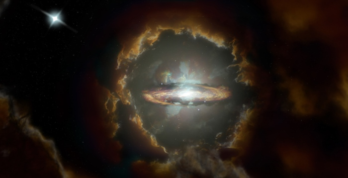 Galaxy Formation: Artists' Conception of Wolfe Disk Galaxy