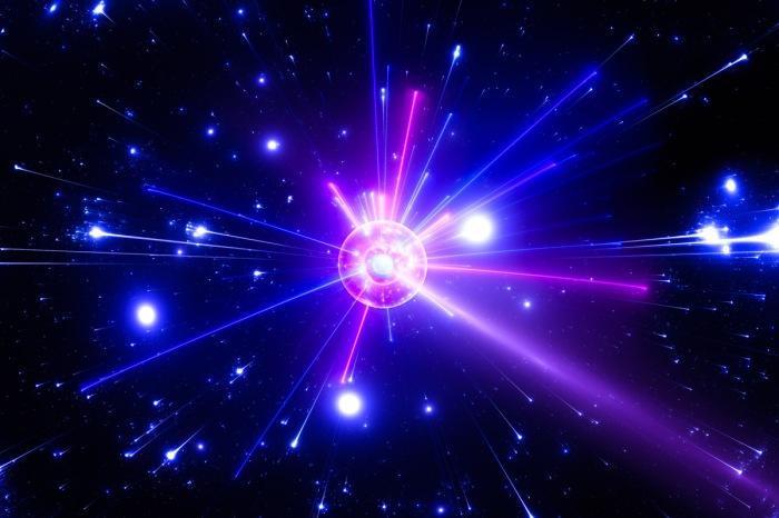 Primordial Universe - Particle Collision