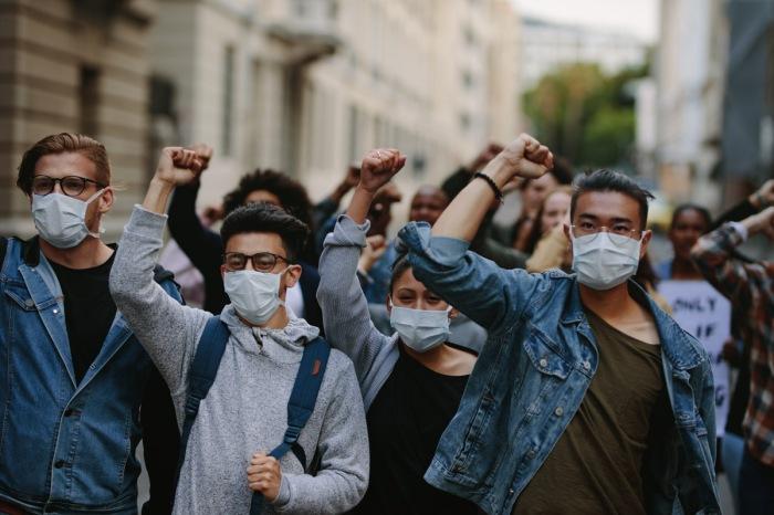 COVID-19 Human Rights Protestors