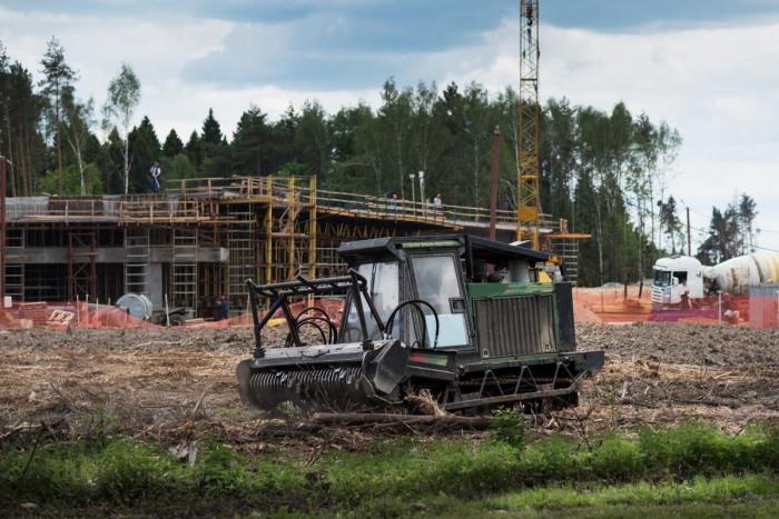 Habitat Destruction - Heavy Equipment Construction Forest