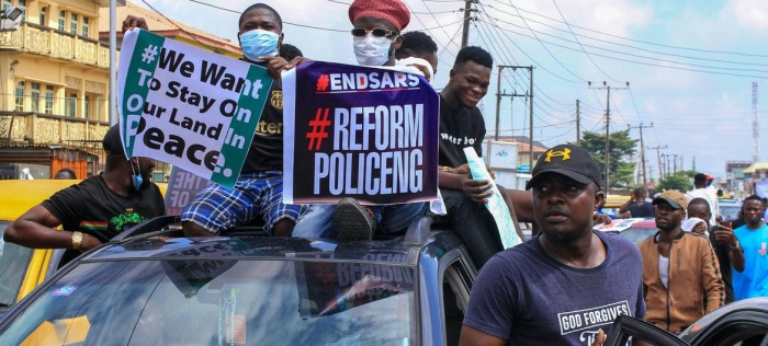 #EndSARS Protests - Protesters in street