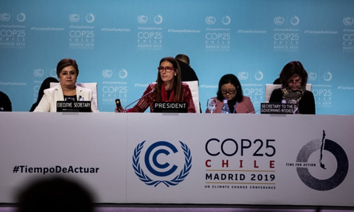 COP25 Outcome - President at Dais