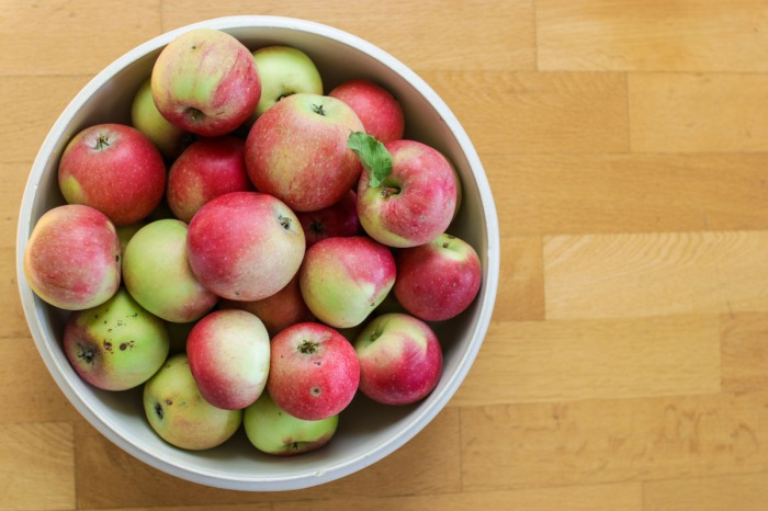 Food Waste - Bushel of Apples with Some Imperfections