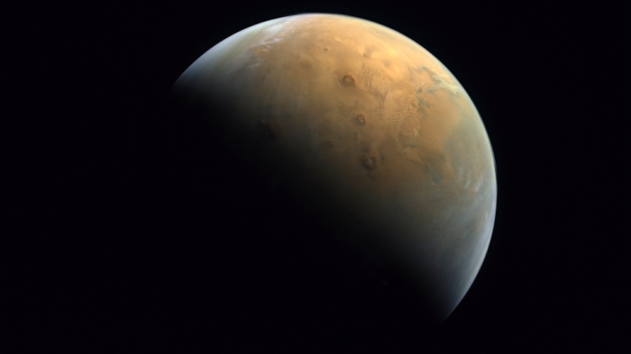 Mars in the News - View of whole planet from UAE's Hope Probe