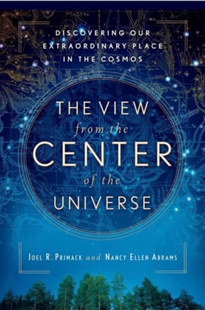 View from the Centre of the Universe - Book Cover, Title Over Starry Sky Background