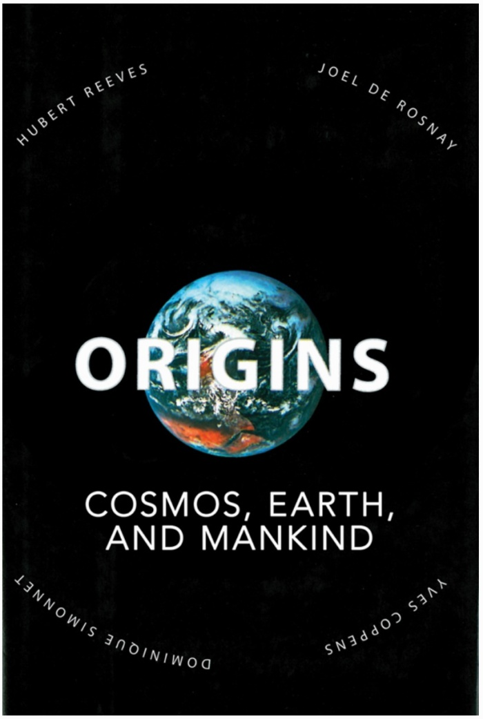 Origins: Cosmos, Earth, and Mankind - Book Cover Whole Earth on Black Background